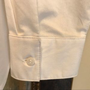 Unbranded Tops - White stretch L/S button down blouse